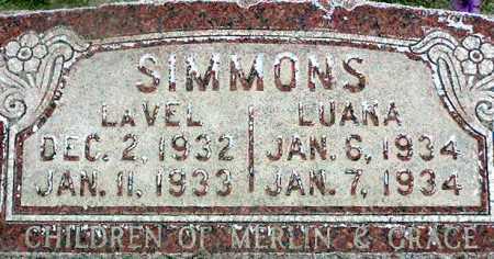 SIMMONS, LAVEL - Wasatch County, Utah | LAVEL SIMMONS - Utah Gravestone Photos