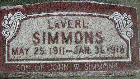 SIMMONS, LAVERL - Wasatch County, Utah | LAVERL SIMMONS - Utah Gravestone Photos