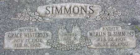 SIMMONS, GRACE ELLEN - Wasatch County, Utah | GRACE ELLEN SIMMONS - Utah Gravestone Photos