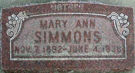 SIMMONS, MARY ANN - Wasatch County, Utah | MARY ANN SIMMONS - Utah Gravestone Photos