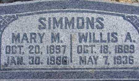 SIMMONS, WILLIS A. - Wasatch County, Utah | WILLIS A. SIMMONS - Utah Gravestone Photos