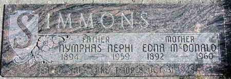 SIMMONS, EDNA - Wasatch County, Utah | EDNA SIMMONS - Utah Gravestone Photos