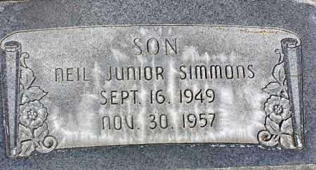 SIMMONS, NEIL JUNIOR - Wasatch County, Utah | NEIL JUNIOR SIMMONS - Utah Gravestone Photos
