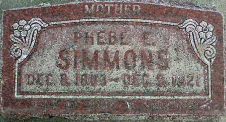 SIMMONS, PHEBE E. - Wasatch County, Utah | PHEBE E. SIMMONS - Utah Gravestone Photos