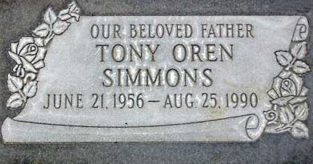 SIMMONS, TONY OREN - Wasatch County, Utah | TONY OREN SIMMONS - Utah Gravestone Photos