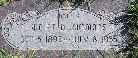 SIMMONS, VIOLET B - Wasatch County, Utah   VIOLET B SIMMONS - Utah Gravestone Photos