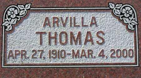 THOMAS, ARVILLA - Wasatch County, Utah | ARVILLA THOMAS - Utah Gravestone Photos