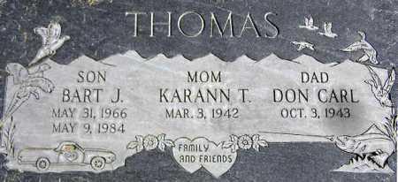 THOMAS, BART J. - Wasatch County, Utah | BART J. THOMAS - Utah Gravestone Photos