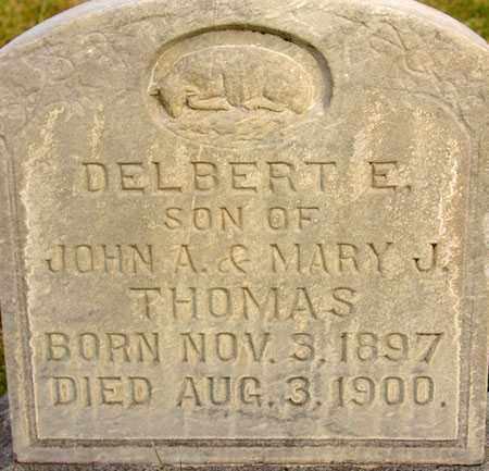 THOMAS, DELBERT ERNEST - Wasatch County, Utah | DELBERT ERNEST THOMAS - Utah Gravestone Photos