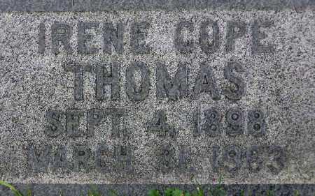 COPE THOMAS, IRENE - Wasatch County, Utah | IRENE COPE THOMAS - Utah Gravestone Photos