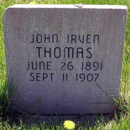 THOMAS, JOHN IRVEN - Wasatch County, Utah | JOHN IRVEN THOMAS - Utah Gravestone Photos