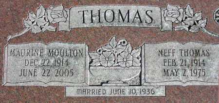 THOMAS, MAURINE - Wasatch County, Utah | MAURINE THOMAS - Utah Gravestone Photos