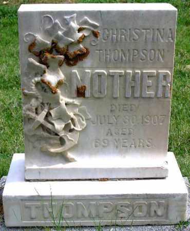THOMPSON, CHRISTINA - Wasatch County, Utah   CHRISTINA THOMPSON - Utah Gravestone Photos