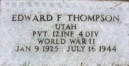 THOMPSON, EDWARD FRANK - Wasatch County, Utah | EDWARD FRANK THOMPSON - Utah Gravestone Photos