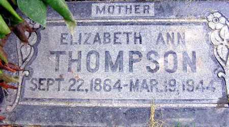THOMPSON, ELIZABETH ANN - Wasatch County, Utah | ELIZABETH ANN THOMPSON - Utah Gravestone Photos