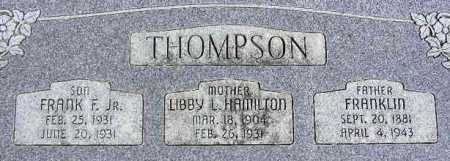 THOMPSON, FRANKLIN F. - Wasatch County, Utah | FRANKLIN F. THOMPSON - Utah Gravestone Photos
