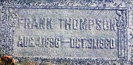 THOMPSON, FRANK - Wasatch County, Utah | FRANK THOMPSON - Utah Gravestone Photos