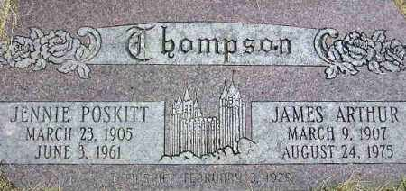 POSKITT THOMPSON, JENNIE - Wasatch County, Utah | JENNIE POSKITT THOMPSON - Utah Gravestone Photos