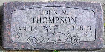 THOMPSON, JOHN M. - Wasatch County, Utah   JOHN M. THOMPSON - Utah Gravestone Photos