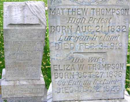 WILEY THOMPSON, ELIZA - Wasatch County, Utah | ELIZA WILEY THOMPSON - Utah Gravestone Photos