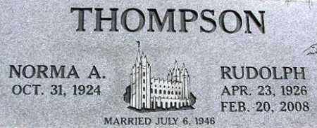 THOMPSON, NORMA ALICE - Wasatch County, Utah | NORMA ALICE THOMPSON - Utah Gravestone Photos