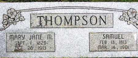 THOMPSON, MARY JANE - Wasatch County, Utah | MARY JANE THOMPSON - Utah Gravestone Photos