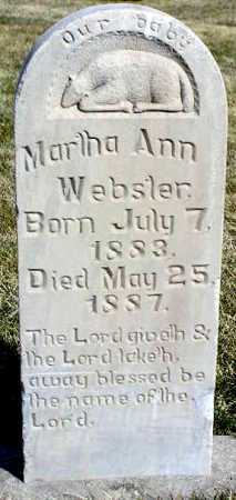 WEBSTER, MARTHA ANN - Wasatch County, Utah   MARTHA ANN WEBSTER - Utah Gravestone Photos