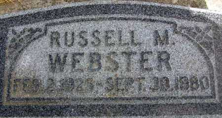WEBSTER, RUSSELL M. - Wasatch County, Utah | RUSSELL M. WEBSTER - Utah Gravestone Photos