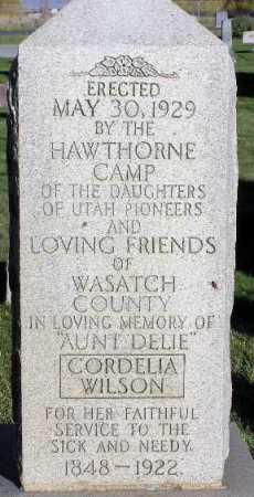 HANCOCK WILSON, CORDELIA - Wasatch County, Utah | CORDELIA HANCOCK WILSON - Utah Gravestone Photos