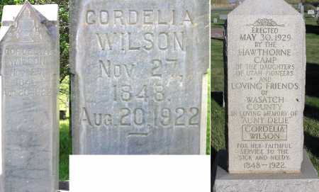 WILSON, CORDELIA - Wasatch County, Utah | CORDELIA WILSON - Utah Gravestone Photos
