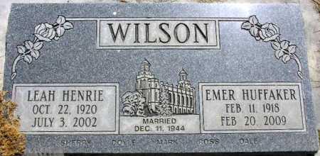 WILSON, EMER HUFFAKER - Wasatch County, Utah   EMER HUFFAKER WILSON - Utah Gravestone Photos