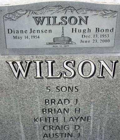 WILSON, HUGH BOND - Wasatch County, Utah | HUGH BOND WILSON - Utah Gravestone Photos