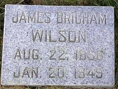 WILSON, JAMES BRIGHAM - Wasatch County, Utah | JAMES BRIGHAM WILSON - Utah Gravestone Photos