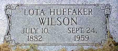 HUFFAKER WILSON, LOTA ELIZA - Wasatch County, Utah | LOTA ELIZA HUFFAKER WILSON - Utah Gravestone Photos