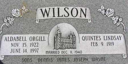 ORGILL WILSON, ALDABELL - Wasatch County, Utah | ALDABELL ORGILL WILSON - Utah Gravestone Photos