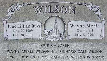 WILSON, WAYNE MERLE - Wasatch County, Utah | WAYNE MERLE WILSON - Utah Gravestone Photos
