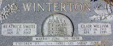 WINTERTON, BEATRICE - Wasatch County, Utah | BEATRICE WINTERTON - Utah Gravestone Photos