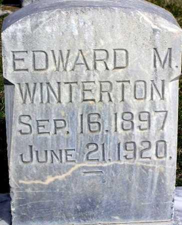 WINTERTON, EDWARD MARRIOTT - Wasatch County, Utah | EDWARD MARRIOTT WINTERTON - Utah Gravestone Photos