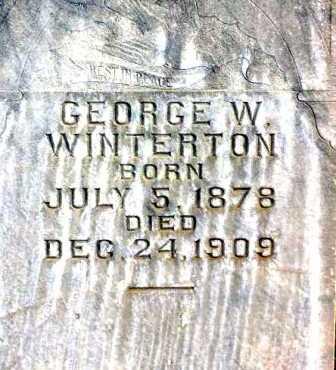 WINTERTON, GEORGE WILLIAM (CLOSE-VIEW) - Wasatch County, Utah   GEORGE WILLIAM (CLOSE-VIEW) WINTERTON - Utah Gravestone Photos