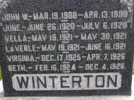 WINTERTON, JUNE - Wasatch County, Utah | JUNE WINTERTON - Utah Gravestone Photos