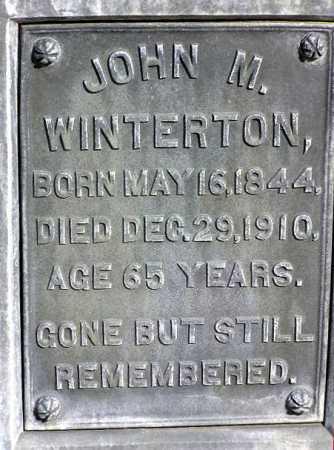 WINTERTON, JOHN MARRIOTT - Wasatch County, Utah   JOHN MARRIOTT WINTERTON - Utah Gravestone Photos