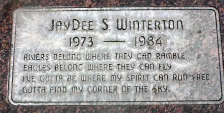 WINTERTON, JAYDEE S. - Wasatch County, Utah | JAYDEE S. WINTERTON - Utah Gravestone Photos