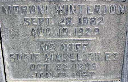 WINTERTON, MORONI - Wasatch County, Utah | MORONI WINTERTON - Utah Gravestone Photos