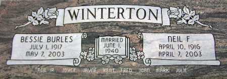 WINTERTON, BESSIE - Wasatch County, Utah | BESSIE WINTERTON - Utah Gravestone Photos