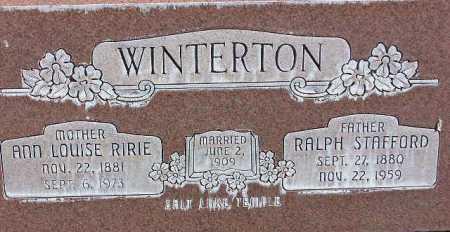 WINTERTON, ANN LOUISE - Wasatch County, Utah | ANN LOUISE WINTERTON - Utah Gravestone Photos