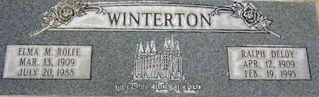 ROLFE WINTERTON, ELMA MARY - Wasatch County, Utah | ELMA MARY ROLFE WINTERTON - Utah Gravestone Photos