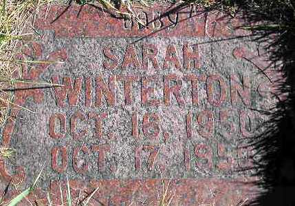 WINTERTON, SARAH - Wasatch County, Utah | SARAH WINTERTON - Utah Gravestone Photos