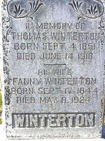 WINTERTON, FANNY R. - Wasatch County, Utah | FANNY R. WINTERTON - Utah Gravestone Photos