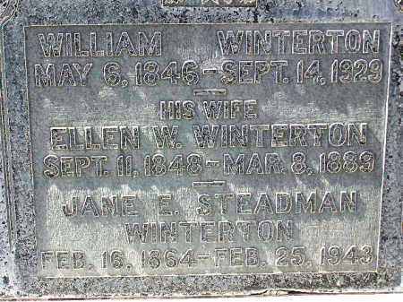 WINTERTON, JANE ELIZABETH - Wasatch County, Utah | JANE ELIZABETH WINTERTON - Utah Gravestone Photos