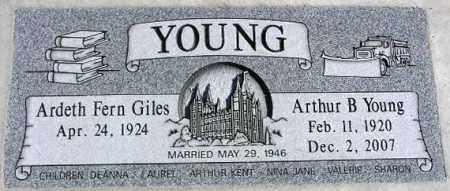 YOUNG, ARDETH FERN - Wasatch County, Utah | ARDETH FERN YOUNG - Utah Gravestone Photos